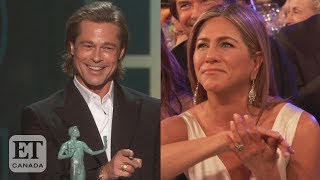 Jennifer Aniston Reacts To Brad Pitt's SAG Awards Speech