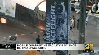 Mobile quarantine facility and science behind space suits