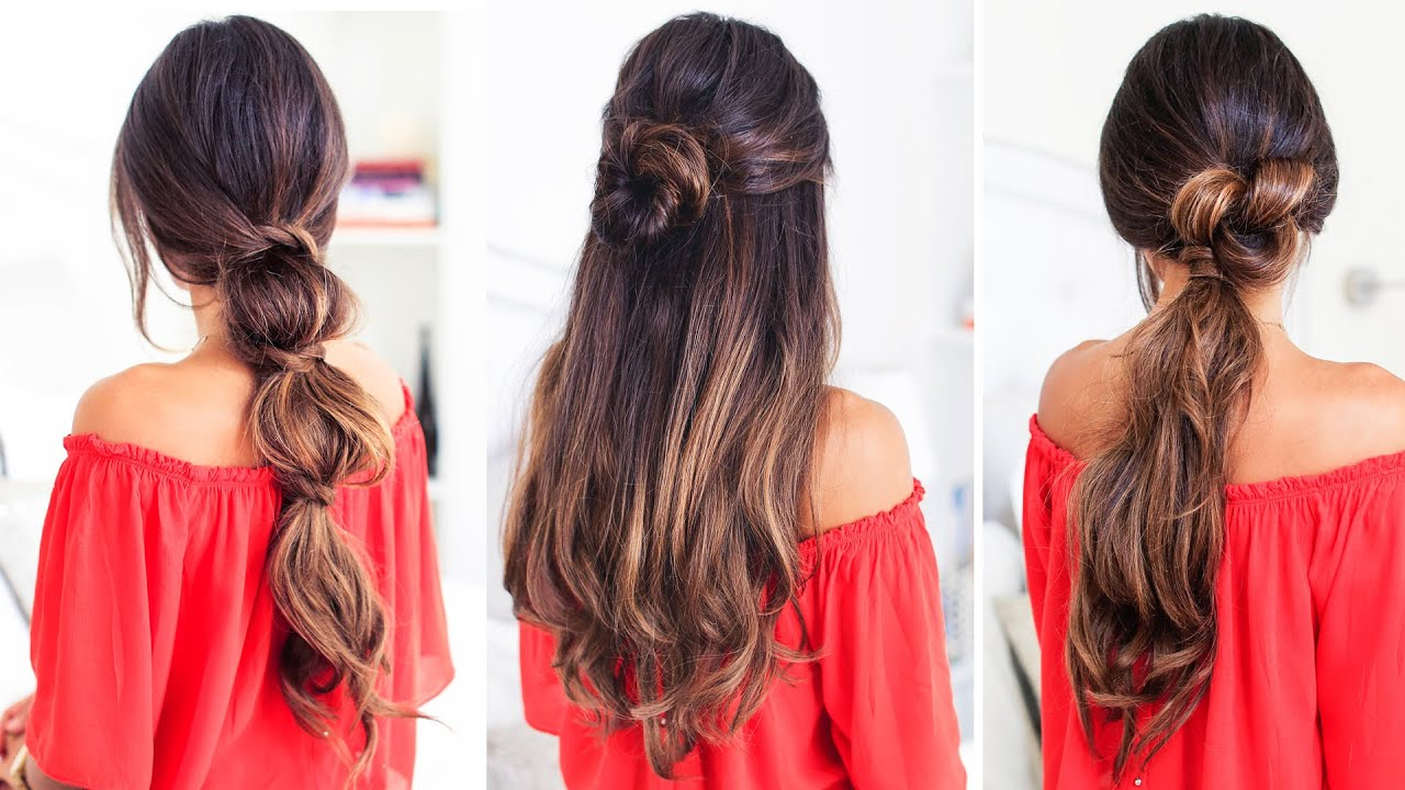 3 lazy hairstyles luxy hair