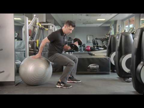 How to Perform a Stability Ball Bridge Loaded