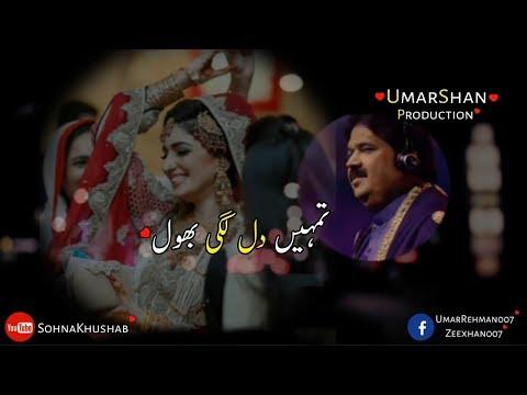 Tumhain Dil Lagi Bhool Urdu Gift Folk Studio Shafaullah Khan Rokhri WhatsApp Status