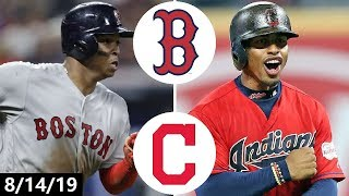Boston Red Sox vs Cleveland Indians Highlights | August 14, 2019 (2019 MLB Season)