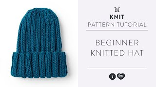How To Knit A Hat   Beginner Knitting Tutorial With Yarnspirations
