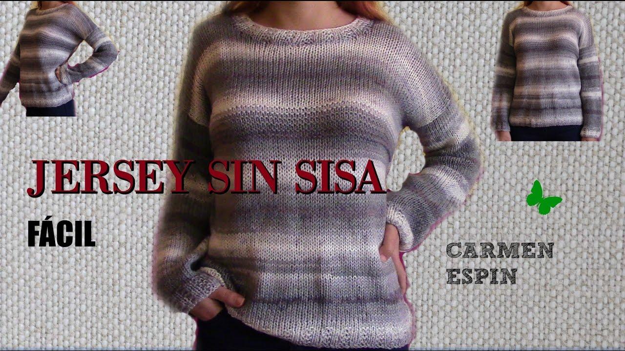 JERSEY SIN SISA Y CUELLO REDONDO.DIY - YouTube 5416657ec4e0