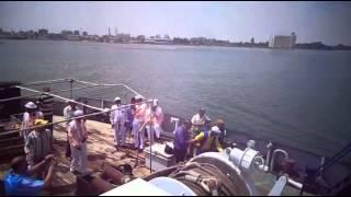 فيديو حصرى : قيادات الاذاعة المصرية يرقصون على السمسمية فى قناة السويس
