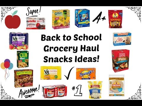 Back to School Grocery Haul | Lots of Snacks | Sam's & Walmart | 2017