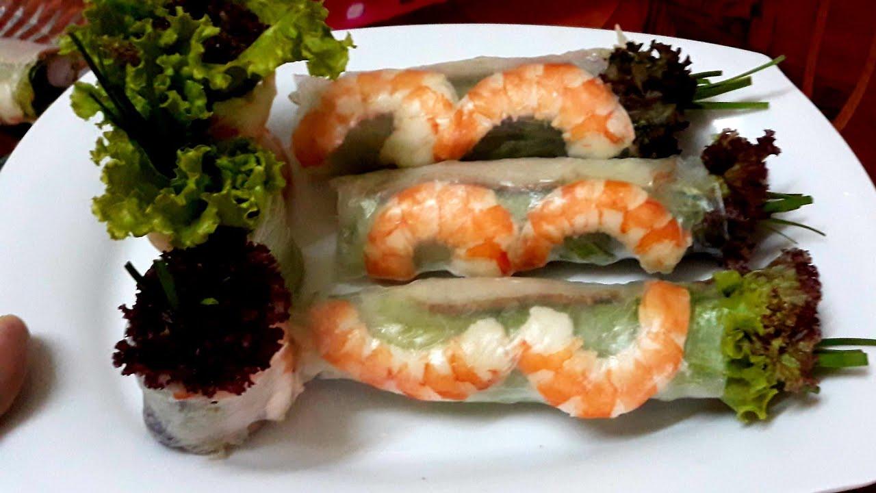 Món ăn vặt: cách làm chi tiết món GỎI CUỐN TÔM THỊT hấp dẫn ngon miệng đẹp mắt của Đậu Đỏ Trần