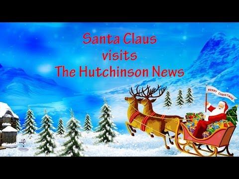 Santa Claus visits The Hutchinson News