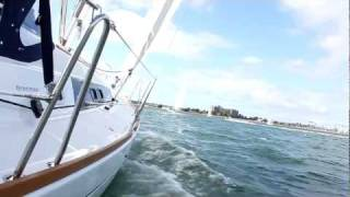 Beneteau 37 February sailing in San Diego.MOV