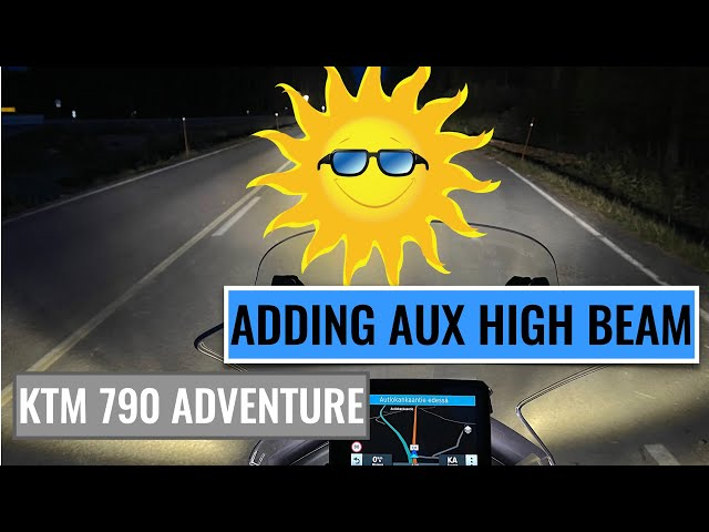 YOU CAN NOW INSTALL AUX HIGH BEAM ON YOUR MOTORCYCLE FOR LESS THAN 70 €