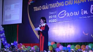 Bài phát biểu cảm nghĩ của HS Lê Hồng Nhung (9A3, THCS Chu Mạnh Trinh) tại Lễ trưởng thành 2020