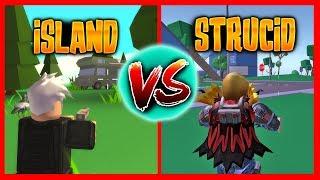 STRUCID VS ISLAND ROYALE - Roblox