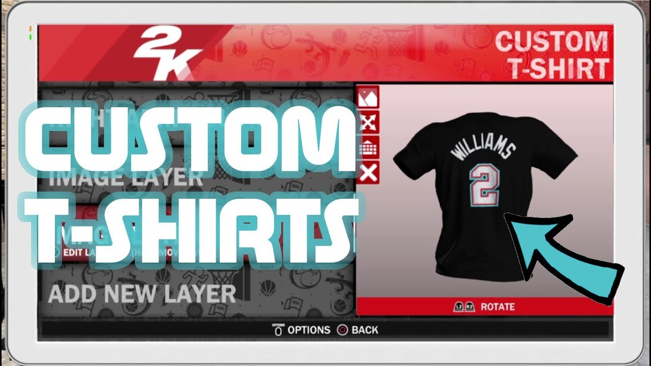 c43771117 HOW TO MAKE CUSTOM SHIRTS ON NBA 2K18!!! - YouTube