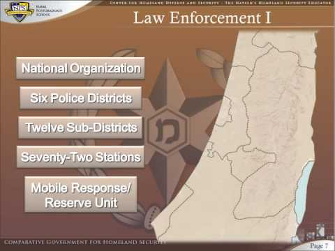 Homeland Security in Israel -Module II - The Organizational and Operational Environments