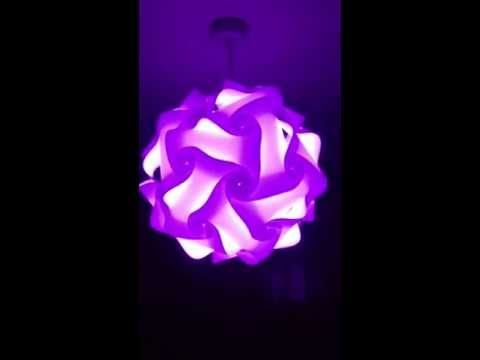 IQ lamp shade with LED colour changing bulb