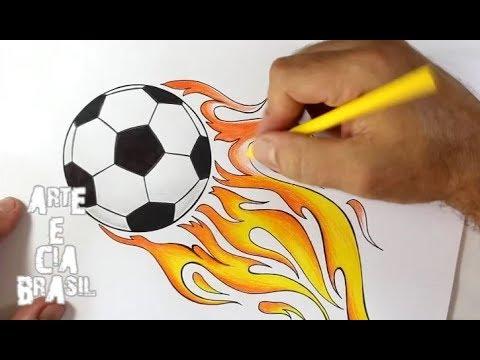 a71e9742410ad COMO DESENHAR BOLA DE FUTEBOL - SUPER FÁCIL - YouTube