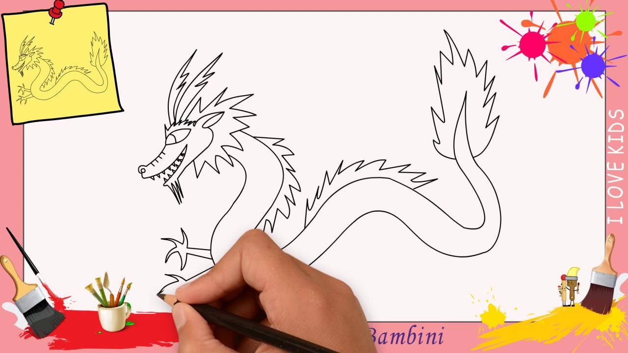 Preferenza Disegni di drago - Come disegnare un drago FACILE passo per passo  SQ03
