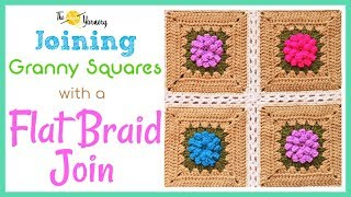 Joining Granny Squares with a Flat Braid Join