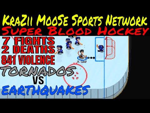 Super Blood Hockey Topeka Tornado's VS Earthquake's Season # 1 Game # 1 Live From The MooSe Cave  