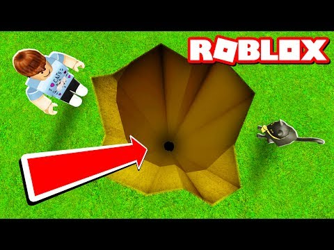 DIGGING A 999,999 FOOT HOLE IN ROBLOX