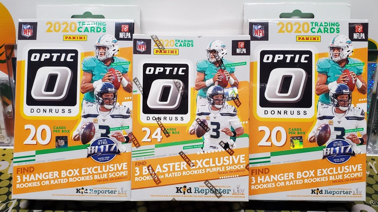 2020 Optic Football Retail Blaster Box & Hanger Box Opening! Purple Velocity & Blue Scope Parallels!