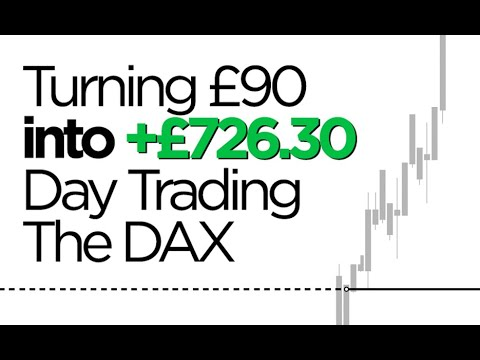 Day Trading The DAX (Turning £90 into £726.30)