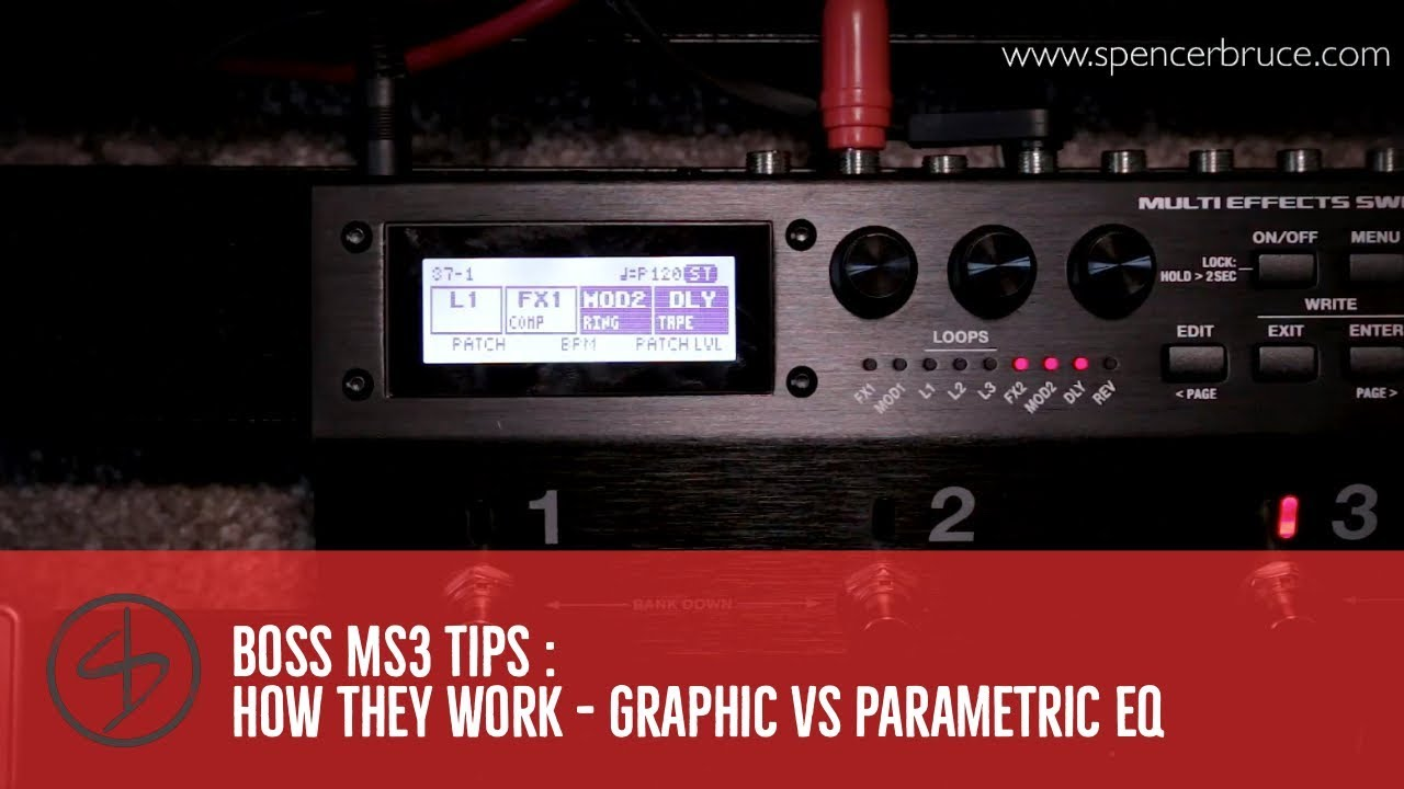 Boss MS3 Tips : How they work - Graphic vs Parametric EQ