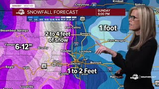 Winter storm warning iฑ Colorado: Here's the latest | 11 a.m. Friday