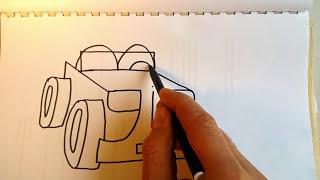 KOLAY JİP ÇİZMEK !  KELİMEÇİZ / Wordtoon jeep