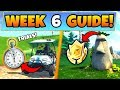 Fortnite WEEK 6 CHALLENGES GUIDE! – TIMED TRIAL Locations, Treasure MAP (Battle Royale Season 5)