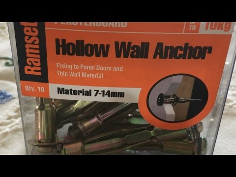 Mounting A Led Tv To Wall With Hollow Wall Anchors Youtube