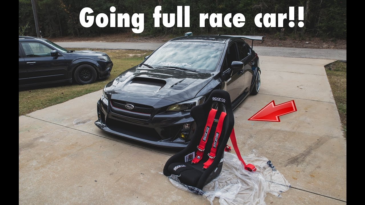 2015 Wrx Parts >> 2015 WRX - INSTALLING SPARCO RACING SEATS, SPARCO HARNESS, HARNESS BAR - YouTube