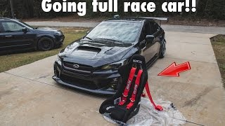 2015 WRX - INSTALLING SPARCO RACING SEATS, SPARCO HARNESS, HARNESS BAR