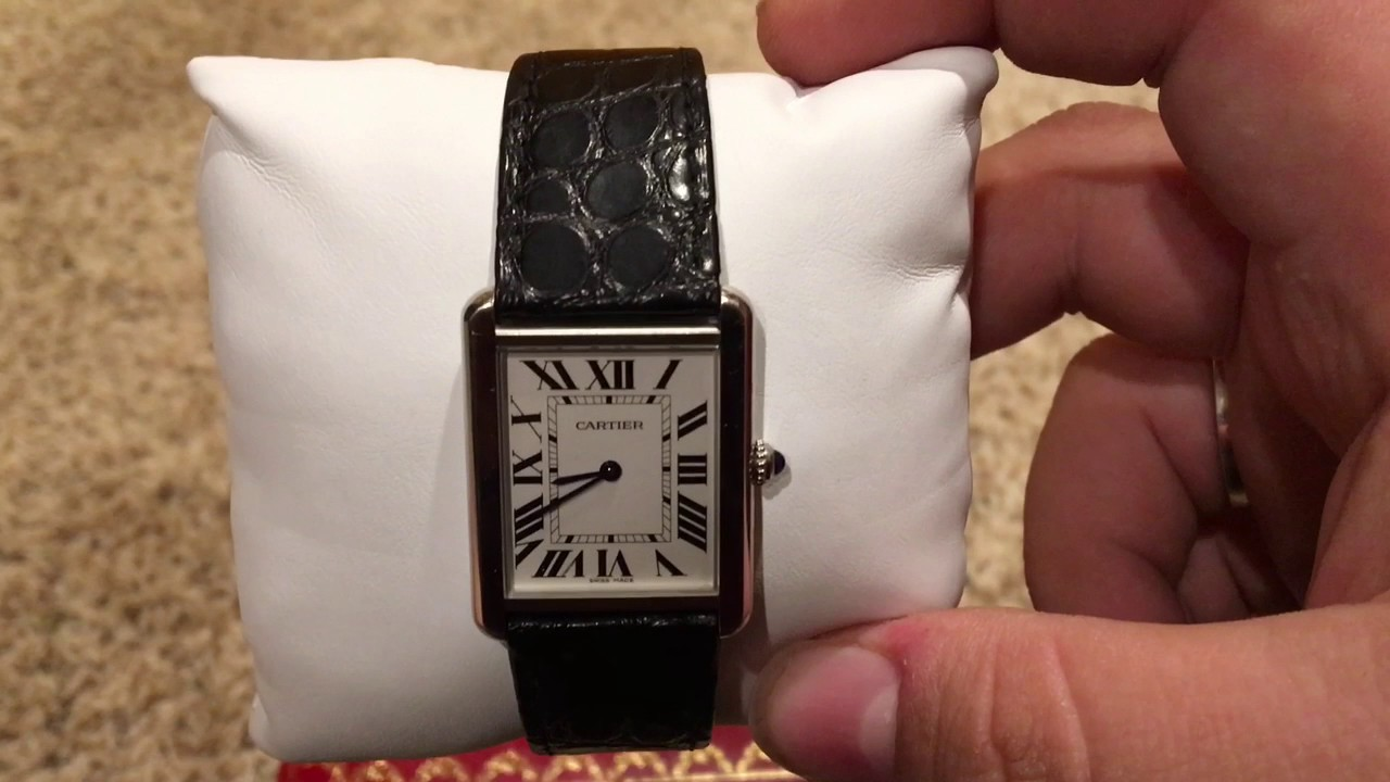 2f65a291563 Cartier solo tank watch review - YouTube