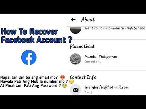 Napalitan Ng Hotmail Ang Email  | How To Recover Facebook Account
