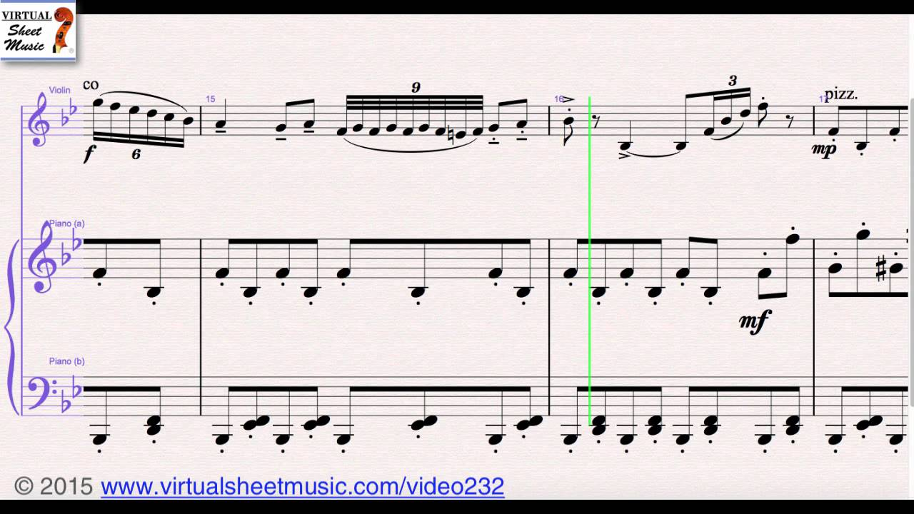 Tchaikovskys Chinese Dance From Nutcracker Suite Violin And Piano Sheet Music Video Score