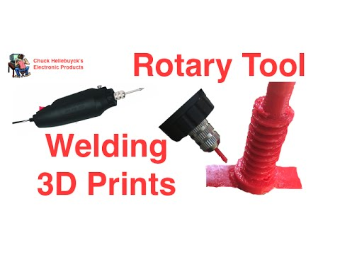Friction Welding 3D Prints Together Using A Rotary Tool - Video #030