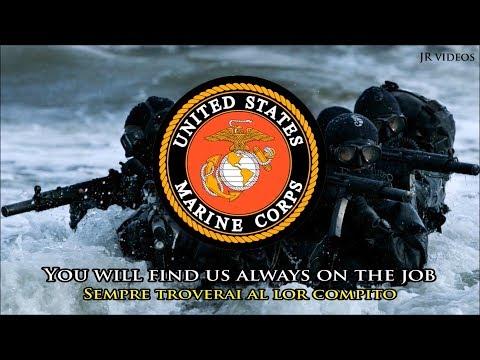 Inno dei Marines (EN/IT testo) - Marines' Hymn (Italian)