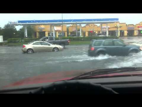 Tropical storm Debby- Spring Hill FL- parade of aquatic vehicles, 1 casualty