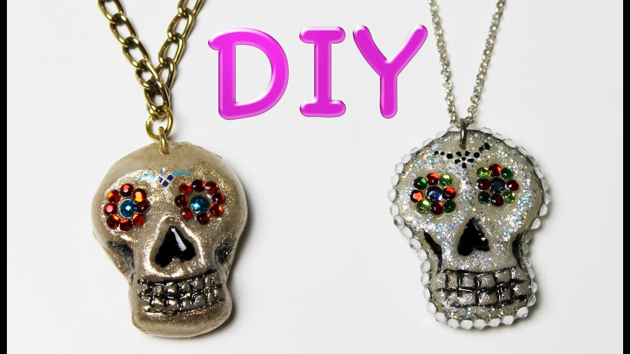 los sugar cameo pendant necklace skull dia muertos products de
