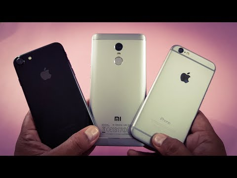 iPhone 7 vs Redmi Note 4 vs iPhone 6 Speed Test Comparison | Which is Faster!