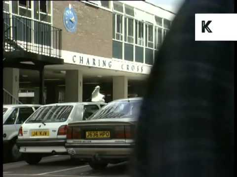 1990s Charing Cross Hospital, London, UK Archive Footage