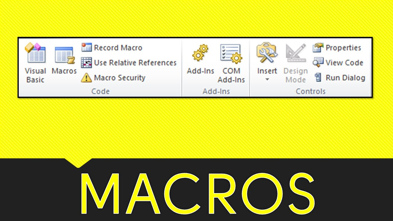 writing macros in excel 2010 In excel 2010 or later, copy sample excel vba code to your workbook, and run a macro copy excel vba code to a regular module to see the steps for pasting a macro into a workbook, and running the macro, please watch this short video tutorial the written instructions are below the video.