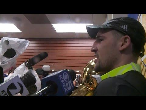 NBA FINALS: Klay Thompson And Zaza Pachulia