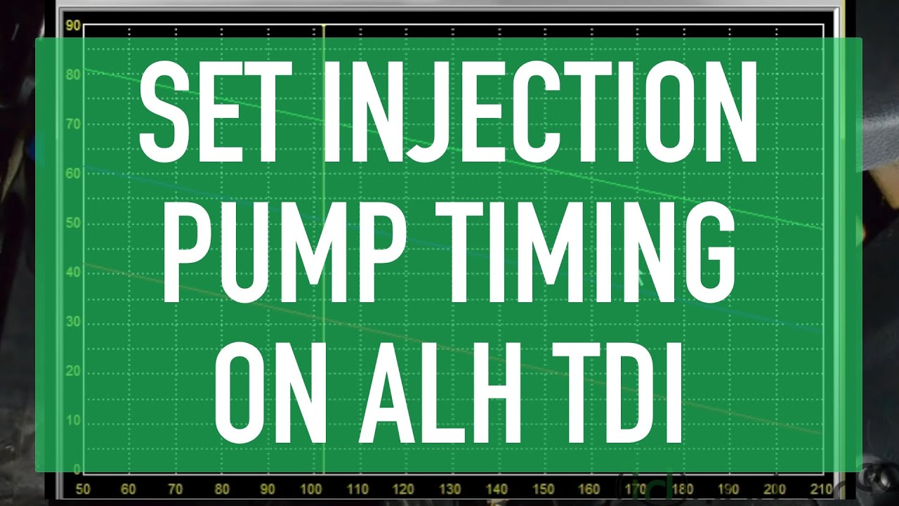 Adjusting ALH Injection Pump Timing