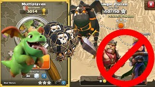 TH9 LavaLoon With Baby Dragon And Without Heroes 3 Star Attacking Strategy | Clash Of Clans