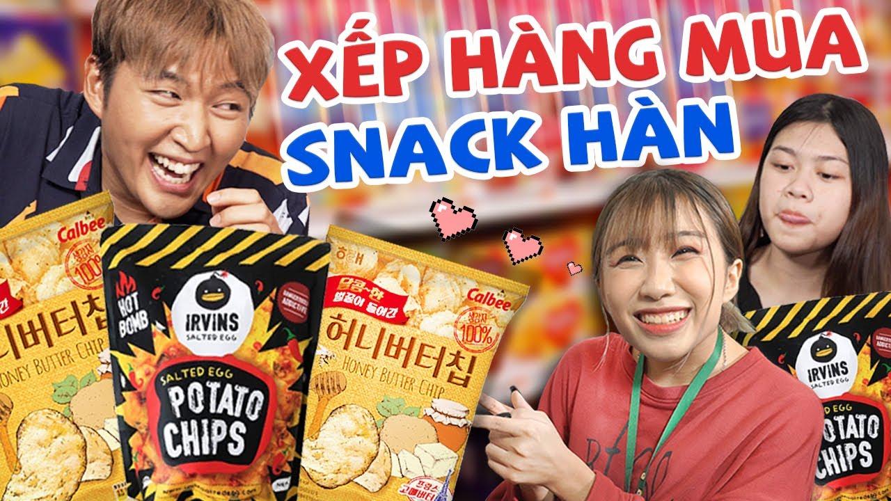 Review ĐỒ ĂN VẶT hot nhất tại Hàn Quốc   DI DI, Yến Nhi thả thính Woossi   CHÁP CHÁP CÙNG WOOSSI