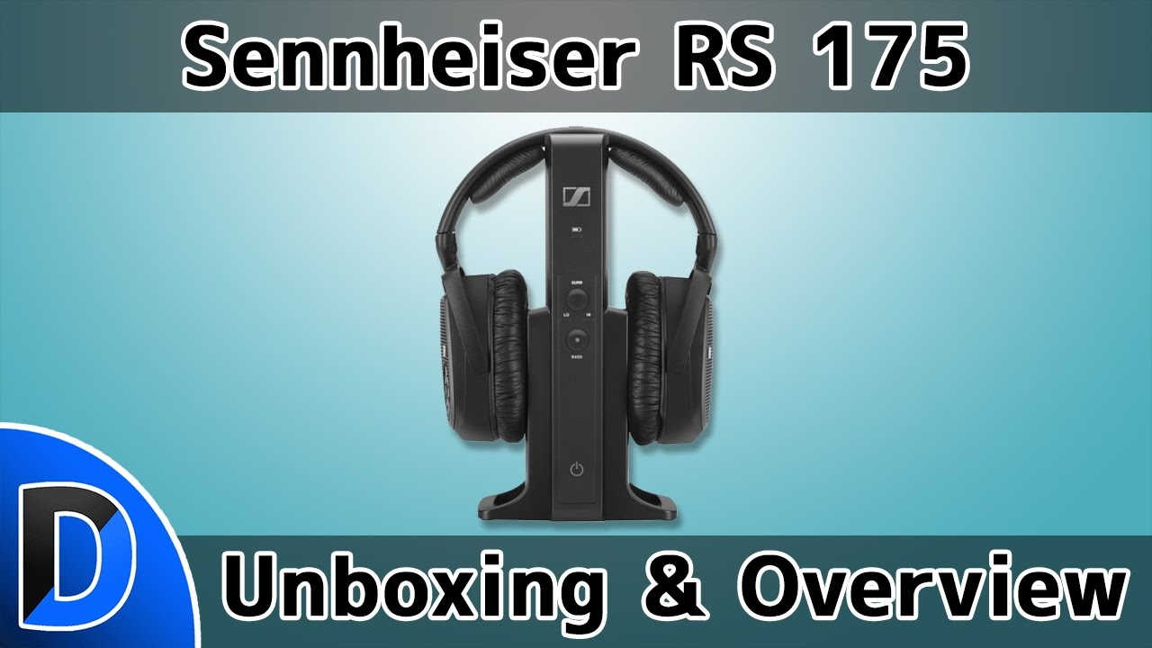 Sennheiser Rs 175 Rf Wireless Headphone System Unboxing And Overview Digital Rs175 Black Youtube