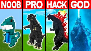 NOOB vs PRO vs HACKER vs GOD: KING OF MONSTERS BUILD BATTLE IN MINECRAFT! - Animation