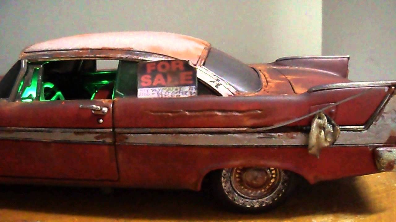 ... 18 CHRISTINE movie Car Unrestored Toy Unpacking Opening Box - YouTube